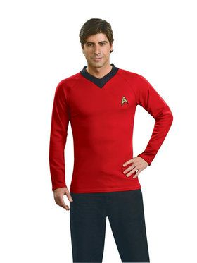 Star Trek Classic Adult Deluxe Red Shirt