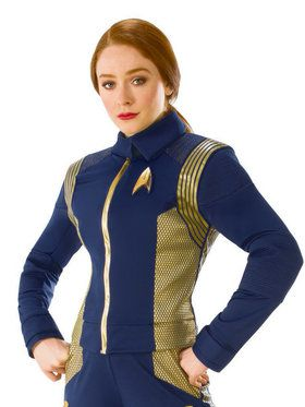 Women's Star Trek Discovery Gold Command Top