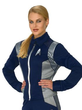 Women's Star Trek Discovery Silver Science Top