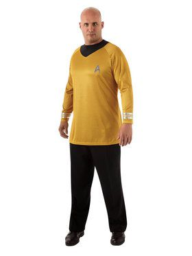 Star Trek Mens Deluxe Captain Kirk Plus Costume