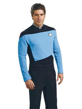 Star Trek Mens Deluxe Science Uniform Costume