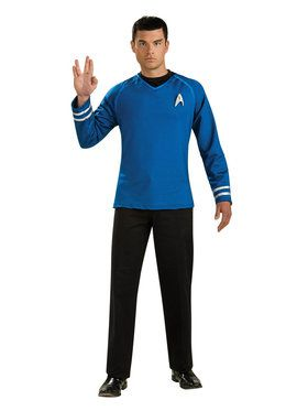Men's Blue Shirt Star Trek Costume