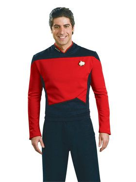 Star Trek Tng Adult Deluxe Red Shirt