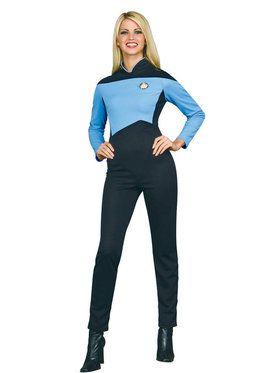 Star Trek Womens Deluxe Science Uniform Costume