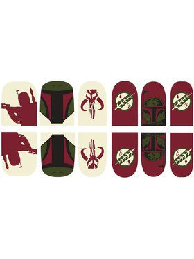 Star Wars Boba Fett Nail Stickers