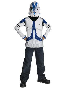 Kids Star Wars Clone Trooper Blue Costume Shirt