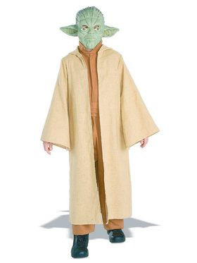 Kid's Deluxe Yoda Costume with 2018 Halloween Masks