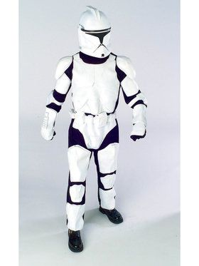 Mens Deluxe Clone Trooper Costume