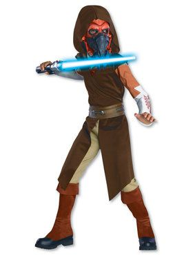 Star Wars The Clone Wars Deluxe Plo Koon Costume with 2018 Halloween Masks
