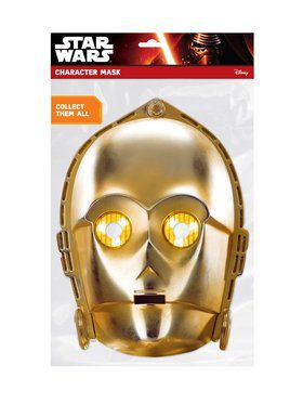C-3PO Star Wars Face 2018 Halloween Masks