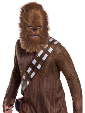 Rebel Collection: Star Wars Classic Adult Chewbacca 2018 Halloween Masks with Fur for Men