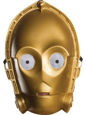 Rebel Collection: Star Wars Classic Ben Cooper Adult C-3PO 2018 Halloween Masks for Men
