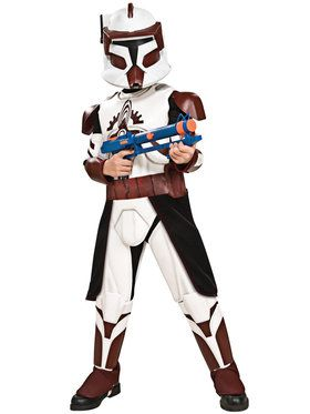Commander Fox Deluxe (Star Wars: Clone Wars) Costume for Kids