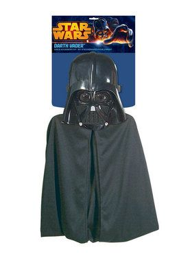 Cape and 2018 Halloween Masks Darth Vader Costume Set