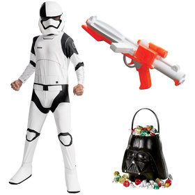 Star Wars Episode VIII: The Last Jedi - Executioner Trooper Child Costume With Blaster and Candy Pail