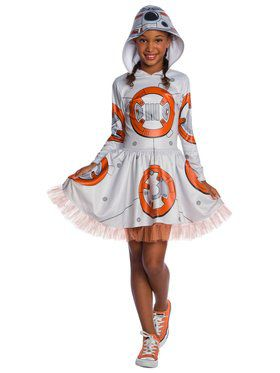 Star Wars Episode VII BB - 8 Child Hooded Tutu Dress