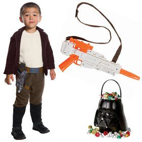 Star Wars Episode VII: The Last Jedi - Child Poe Dameron Costume With Blaster and Candy Pail