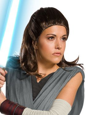 Star Wars Episode VIII The Last Jedi Rey Costume Wig for Adults