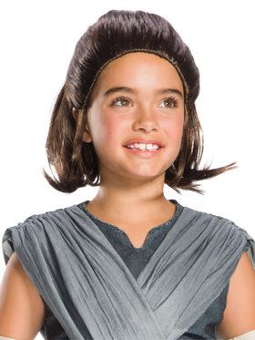 Star Wars Episode VIII The Last Jedi Rey Costume Wig for Kids