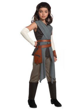 Star Wars Episode VIII - The Last Jedi Deluxe Girl's Rey Costume