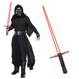 Star Wars Episode VIII: The Last Jedi - Classic Kylo Ren Adult Costume and Lightsaber Bundle