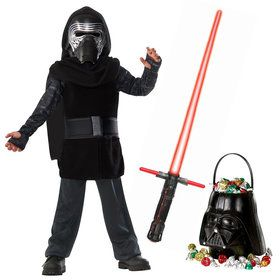 Star Wars Episode VIII: The Last Jedi - Kylo Ren Child Classic Costume and Lightsaber Bundle