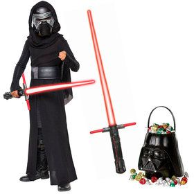 Star Wars: Episode VIII: The Last Jedi - Deluxe Child Kylo Ren Costume And Lightsaber Bundle