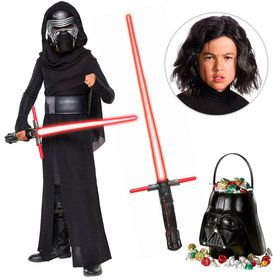 Star Wars Episode VIII: The Last Jedi - Kylo Ren Child Deluxe Costume With Wig and Lightsaber