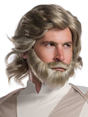 Star Wars Episode VIII The Last Jedi Luke Skywalker Beard and Wig Kit