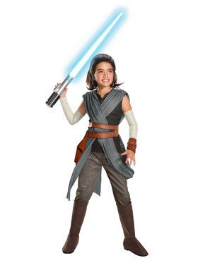 Girl's Super Deluxe Star Wars Episode VIII - The Last Jedi Rey Costume