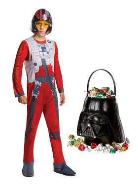 Star Wars Episode VIII: The Last Jedi - Poe Dameron Toddler Costume and Candy Pail Bundle