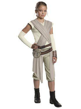Star Wars: Forces Of Destiny-Deluxe Rey Of Jakku Costume for Girls