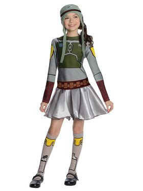 Star Wars Girls Boba Fett- Girl Costume