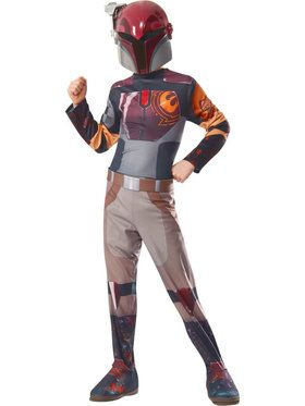 Star Wars Rebels Kid's Sabine Costume with 2018 Halloween Masks