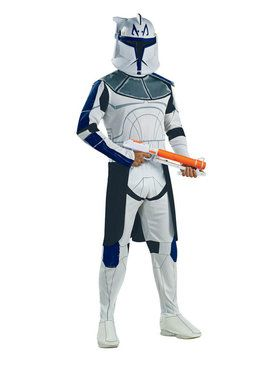 Star Wars Mens Clone Trooper Capt. Rex Costume