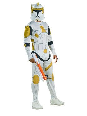 Star Wars Mens Clone Trooper Commander Cody Costume