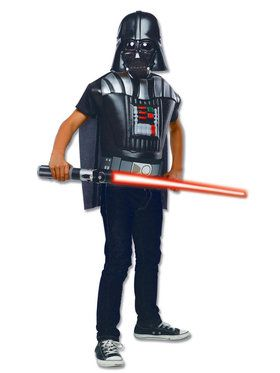 Star Wars Short Sleeve Molded Darth Vader Costume