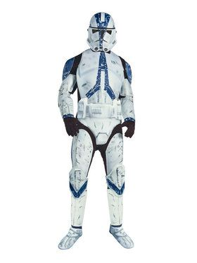 Star Wars Mens Dlx. Clone Trooper Costume