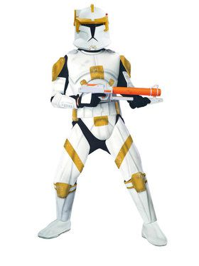 Star Wars Mens Dlx.Clonetroopr Comm.Cody Costume