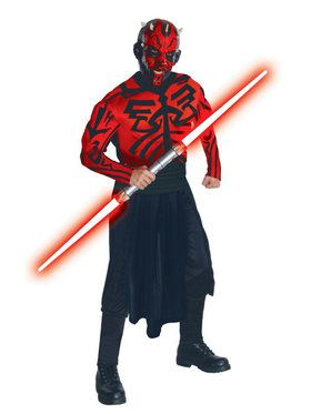 Star Wars Classic Edition: Deluxe Muscle Chest Darth Maul Adult Costume
