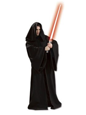 Star Wars Mens Super Dlx. Hooded Sith Ro Costume