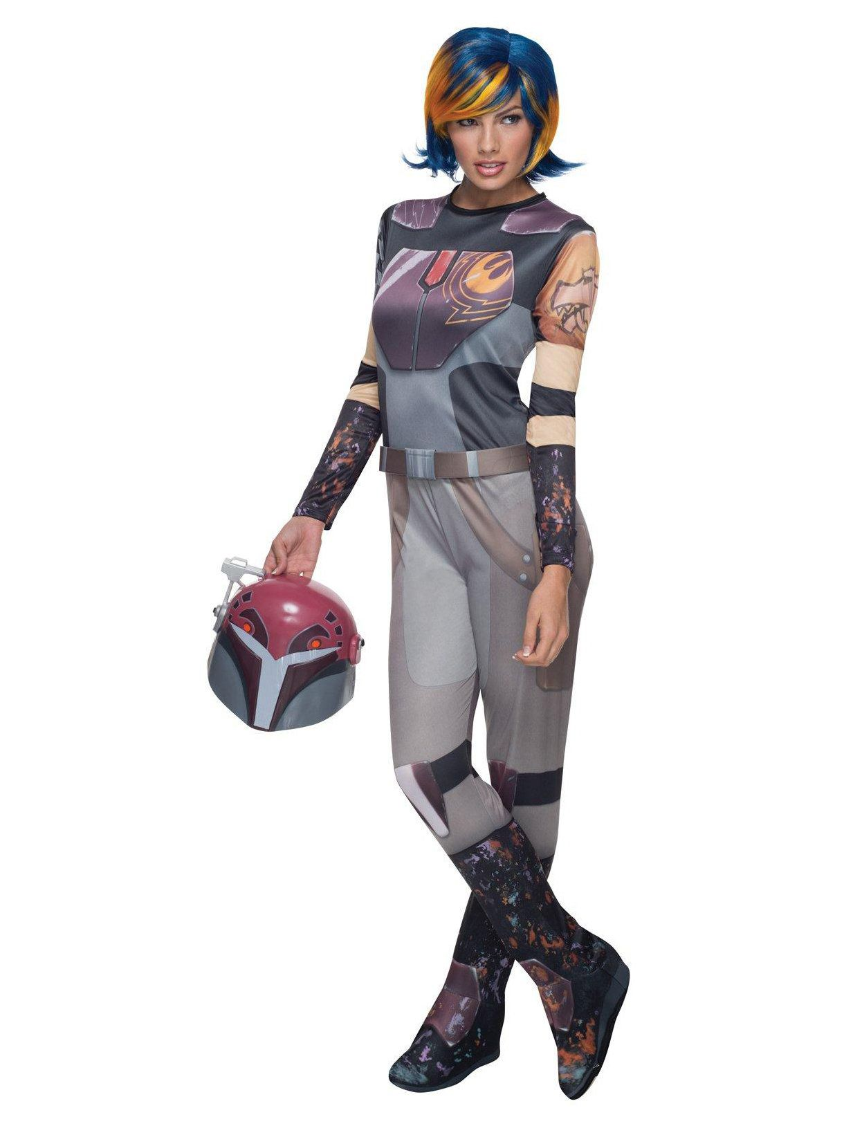 deluxe adult star wars rebel sabine costume - adult 2018 halloween