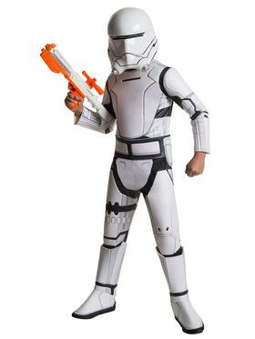 Boy's Star Wars The Force Awakens Deluxe Flametrooper Costume