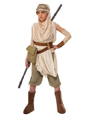 Star Wars The Force Awakens Premium Girl's Rey Costume