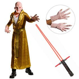 Star Wars The Last Jedi - DLX Men's Supreme Leader Snoke Costume with Lightsaber and Hands