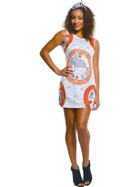 Star Wars Womens Bb8 Rhinestone Tank Dress Costume