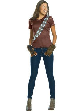 Star Wars Womens Chewbacca Rhinestone T-Shirt Costume