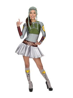 Star Wars Women's Female Boba Fett Costume
