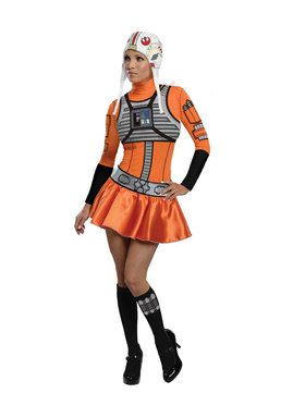 Star Wars Women's Female X- Wing Fighter Costume