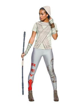 Star Wars Womens Rey Rhinestone T-Shirt Costume